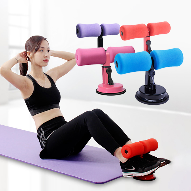 Abs Trainer Sit Up Bar Self-Suction Abdominal Curl Exercise Push-up Assistant Device Lose Weight Home Gym Fitness Equipment
