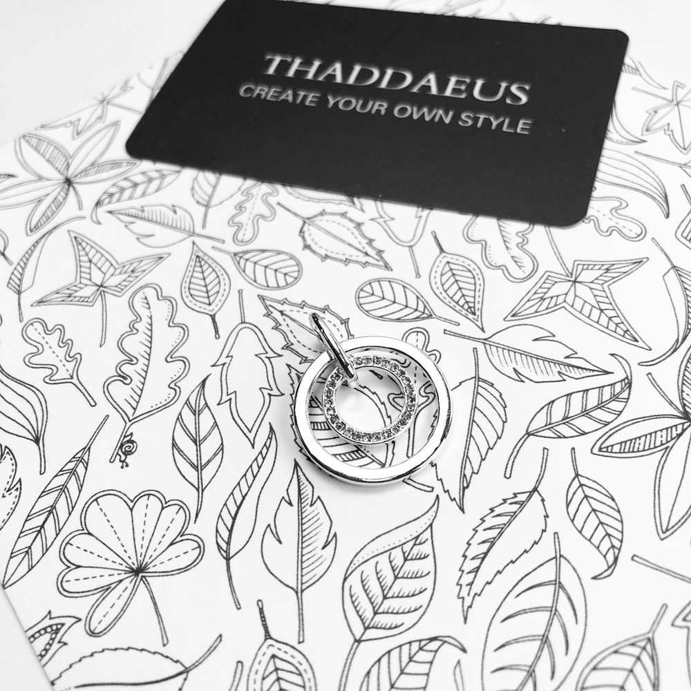 Hanger Cirkels Pave,2019 Brand Nieuwe Mode Glam Sieraden Thomas Bijoux 925 Sterling Zilveren Accessoires Gift Voor Ts Soul Vrouw
