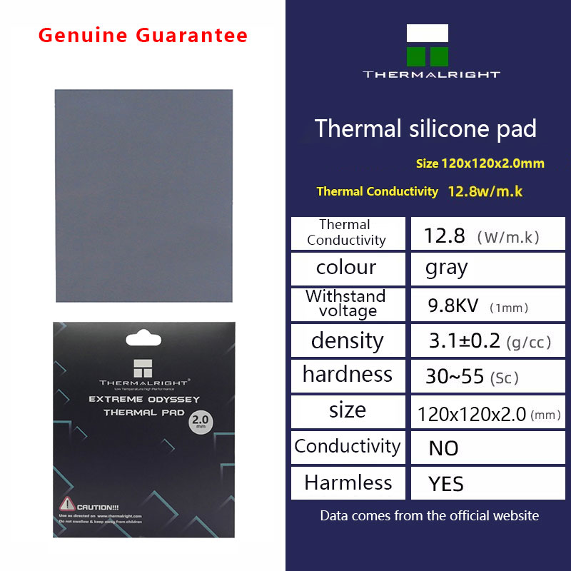 Thermalright ODYSSEY Heat Dissipation Silicone Pad CPU/GPU Graphics Card Thermal Pad Motherboard Silicone Grease Pad Multi-Size 3