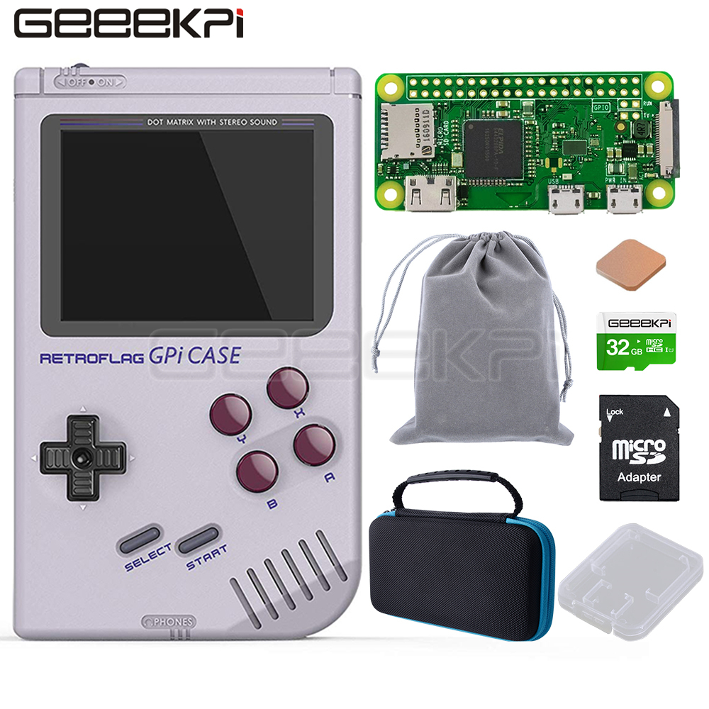 GeeekPi In Stock! Original Retroflag GPi CASE Kit With 32G Micro SD Card Heatsink Carrying Bag For Raspberry Pi Zero / Zero W