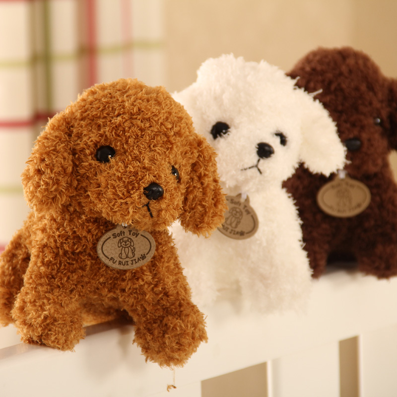 Cute Simulation Puppy Plush Toy Teddy Dog Child Doll Curly Filled Pet Soft Anime Decoration Collection Toy Child Child 18CM in Real Life Plush from Toys Hobbies
