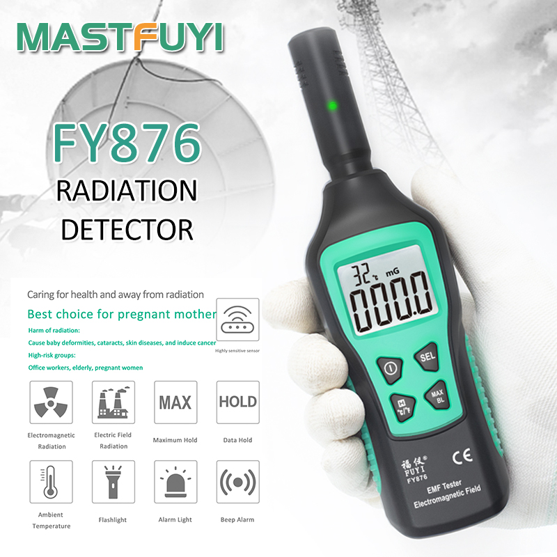 Mastfuyi FY876 Handheld EMF Meter Electromagnetic Radiation Detector Monitor Household High Precision Wave Radiation Tester