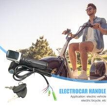 36/48/60V Elektrische Fahrrad Roller Gas Grip Griff E-bike Twist Geschwindigkeit Lenker Accelerator mit led-anzeige