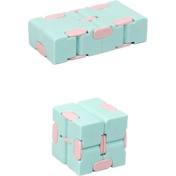 New Creative Unlimited  Cube Decompression Decompression Toy Pocket Flip Box Second-order  Cube Puzzle Toy Children's Puzzle creative piggy bank burger cube puzzle toy