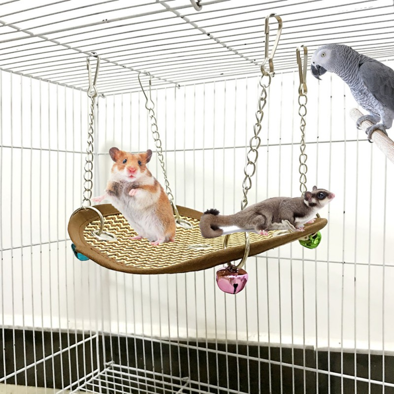 Pet Hammock Hamster Mice Rat Rodents Hanging Bed Cage Small Pet Swing Nest Toys Ventilated Cool Spring And Summer