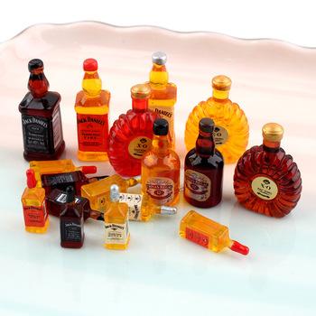 15 sztuk żywica symulacja akcesoria do butelek wina XO miniaturowe figurki Flatback Cabochon Charms Scrapbooking DIY ozdobne statki tanie i dobre opinie CN (pochodzenie) Litery wykonane ze sztucznego tworzywa Z żywicy