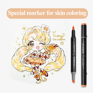 Image 5 - Finecolour EF103 12/24/36 Skin Colors Alcohol Based Ink Art Markers Calligraphy Marker Double Headed Brush Markers For Drawing