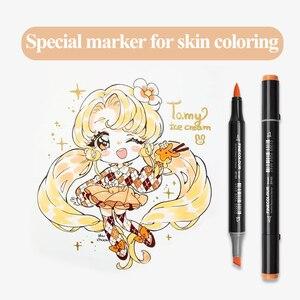 Image 5 - Finecolour EF103 12/24/36 kolory skóry markery na bazie alkoholu markery sztuki kaligrafii markery dwugłowe szczotki do rysowania
