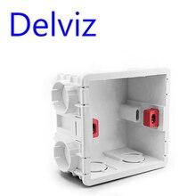 Delviz настенная коробка переключателей настенная розетка кассета, 80 мм пластиковые материалы, для стандартного настенный светильник Переключатель ЕС стандартный внутренний монтажный ящик