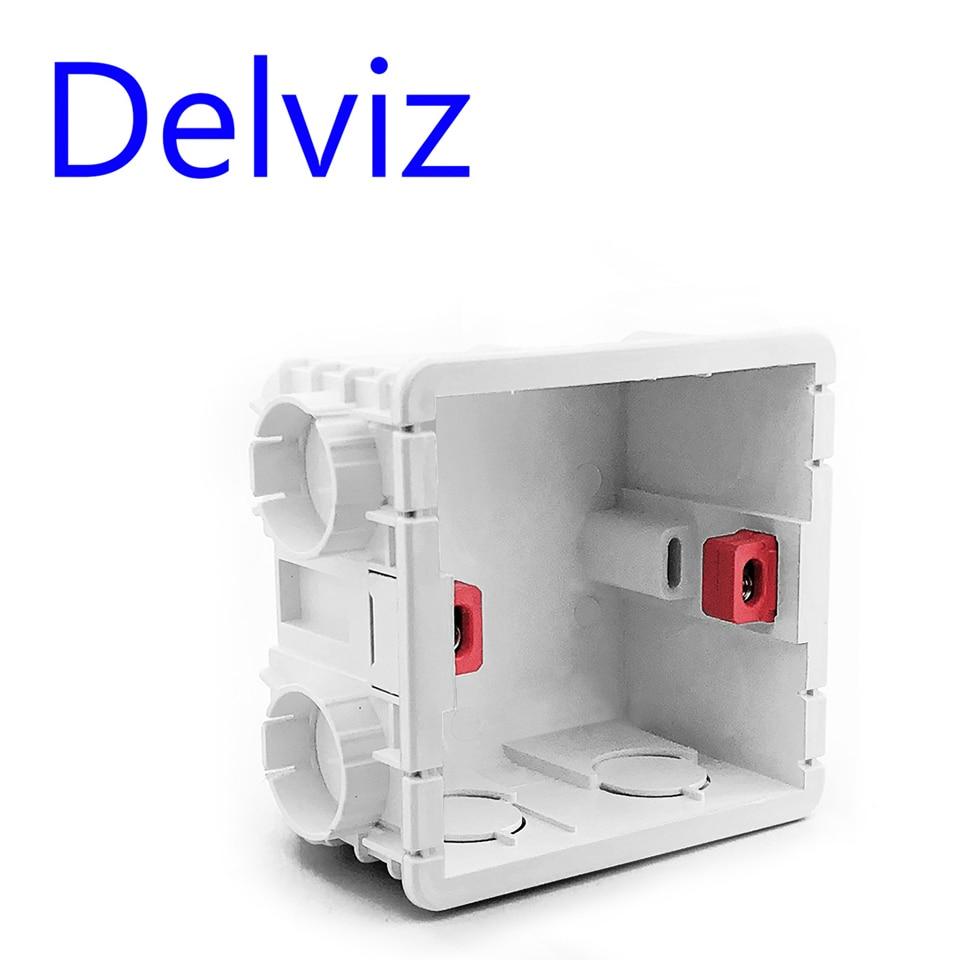 Delviz Wall Switch BOX Wall Socket Cassette,86mm Plastic Materials,For Standard Wall Light Switch EU Standard Internal Mount Box