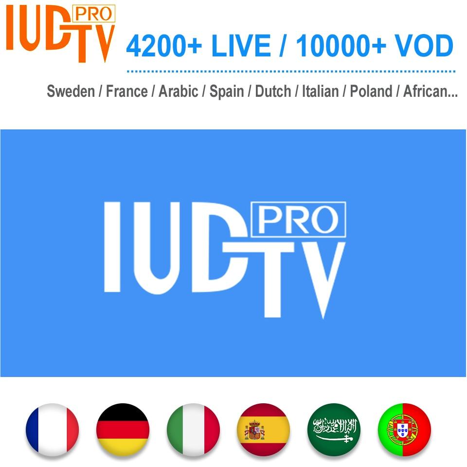 1 jahr IUDTV PRO Schweden Abonnement Kanäle Code Schwedisch Arabisch Französisch Spanisch M3U APK Für Android TV Box-in Digitalempfänger aus Verbraucherelektronik bei  Gruppe 1