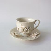 Coffee Cup and Saucer Set Tea Ceramic Cups Creative Mug for Mugs Luxury Handmade Porcelain