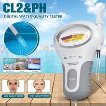Probador CL2 2 en 1 de calidad del agua, PH y cloro, nivel de PC-101, portátil, Medidor de PH Digital, piscina, Spa, instrumentos analíticos, 40% de descuento, 1 uds.