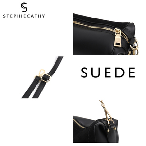 Image 4 - SC Luxury Brand Suede Patchwork Women Bags Soft Nubuck Handbag for Girls Chain Shoulder Bag Ladies Hobo Crossbody Messenger Bags