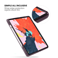 soft tpu For iPad Pro 12.9 inch 2020 Case Flexible Soft TPU Tablet Back Case Cover Anti-Scratch Protective Transparent Case With Pen Slot (5)