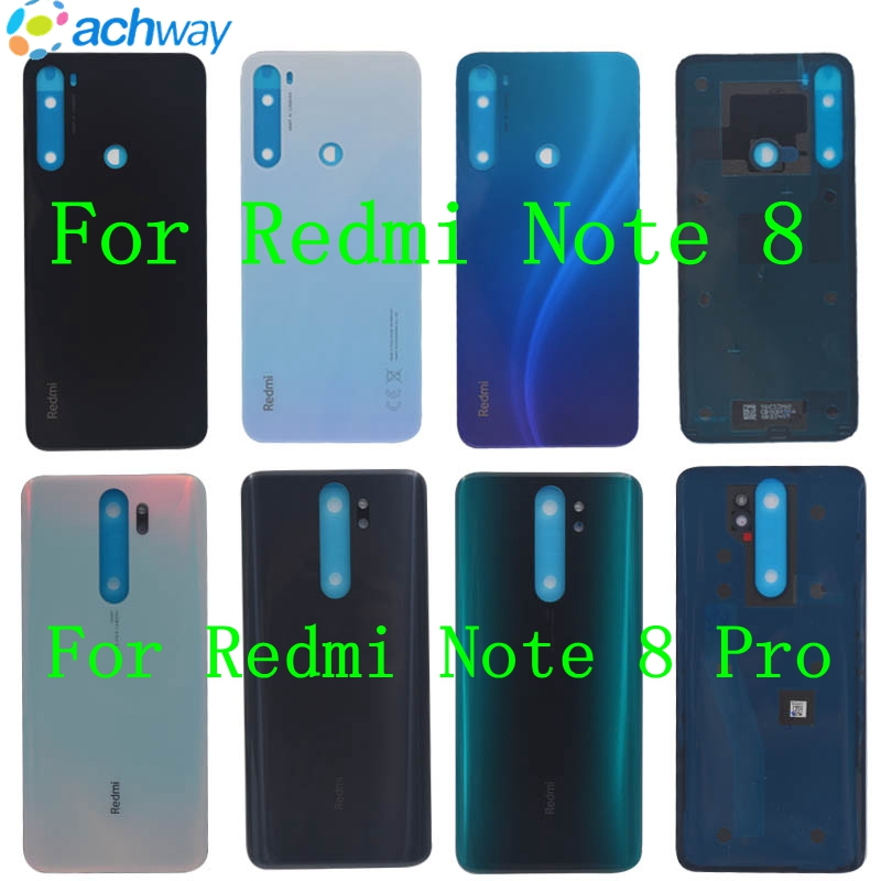 For Redmi Note8 Note 8 Pro Back Battery Glass Cover Rear Door Housing Case Panel For Xiaomi Redmi Note 8 Battery Cover Replace