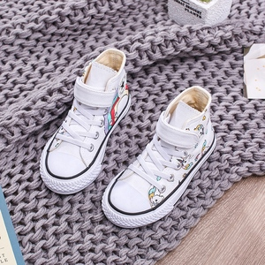 Image 4 - 2020 Girls Unicorn Boots Rainbow Vulcanized Canvas Toddler Boots Big Girls and Boys Sneakers Winter Ankle England Boots  25 38