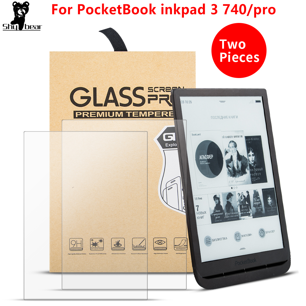 2PCS/Lot Tempered Glass Case Film For PocketBook 740 InkPad 3 7.8 Inch Scratch Proof  E-reader E-book  Screen Protector