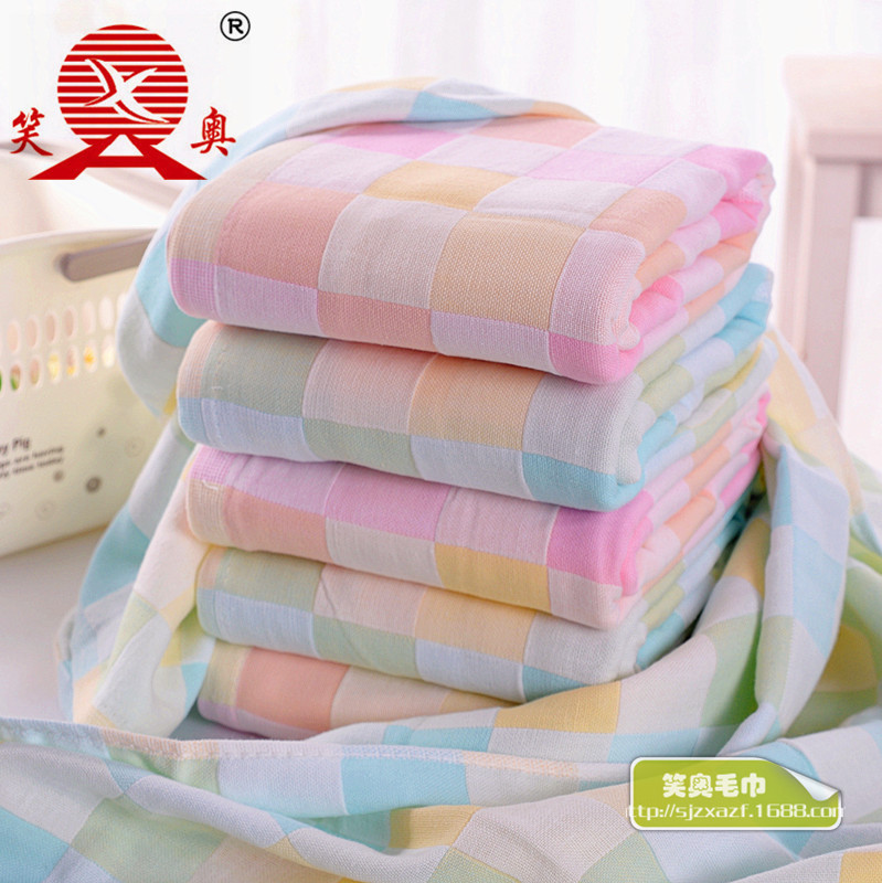 Pure Cotton Gauze 70X140 Double Layer Breathable Bath Towel Infants Children Baby Bath Towel