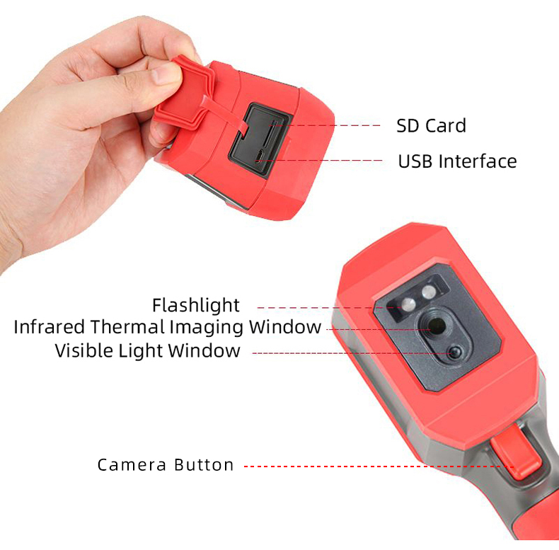 A-BF Infrared Thermal Imager with Real-Time Image Transmission and High-Temperature Alarm Prompt 16