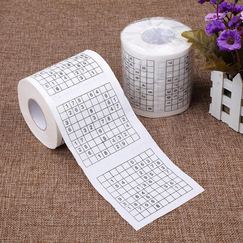 Novelty Gift Fun Number Sudoku Soft Toilet Paper Tissue Bathroom Clean Supplies One Hundred Dollar Bill Toilet Paper Roll Paper