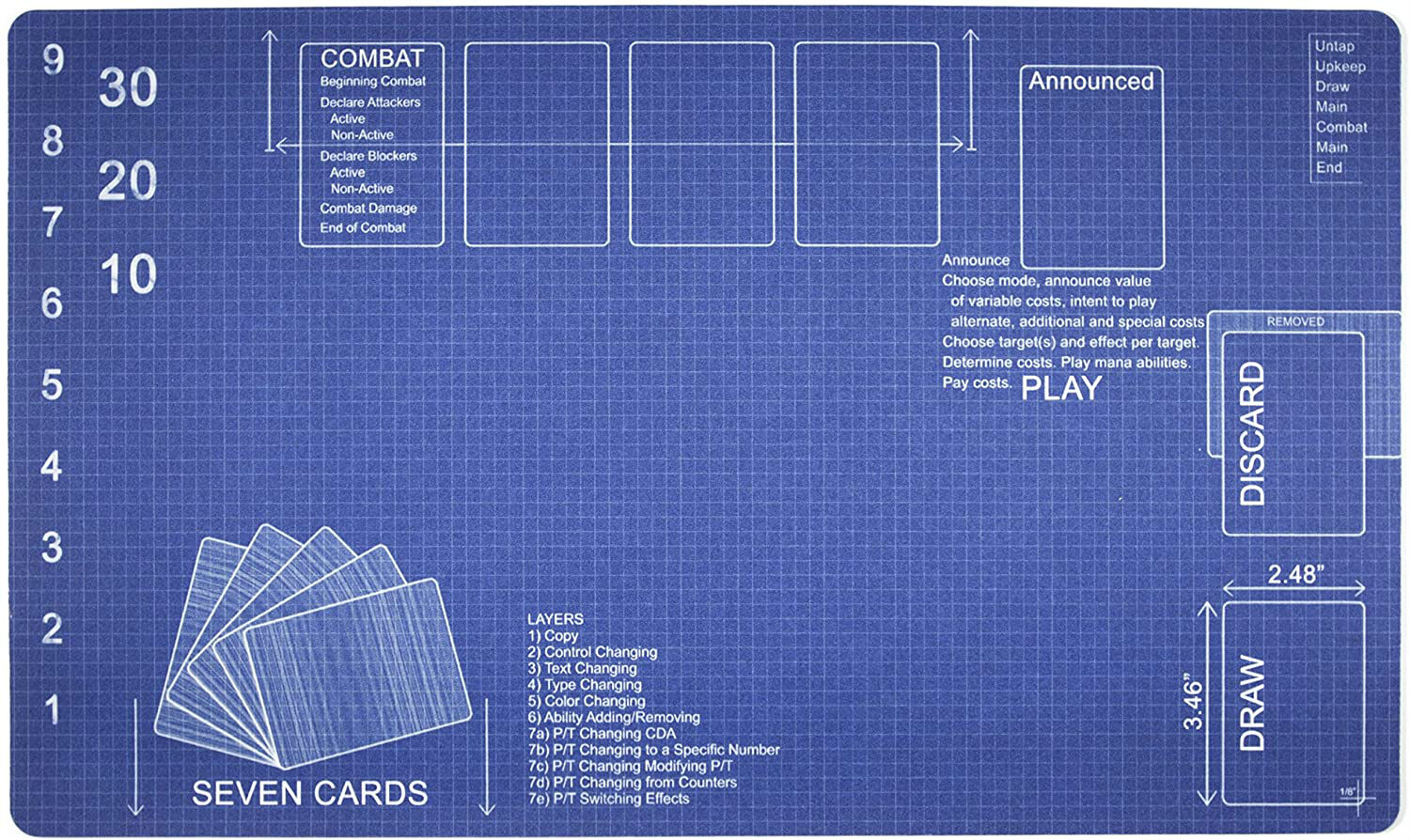 Pokemon YuGiOh Magic The Gathering Playmat By Inked Gaming Perfect For PTG MTG Gaming