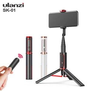 Image 1 - Ulanzi SK 01 Мини Bluetooth селфи пульт дистанционного управления Управление вертикальный штатив съемки онлайн Vlog штатив монопод