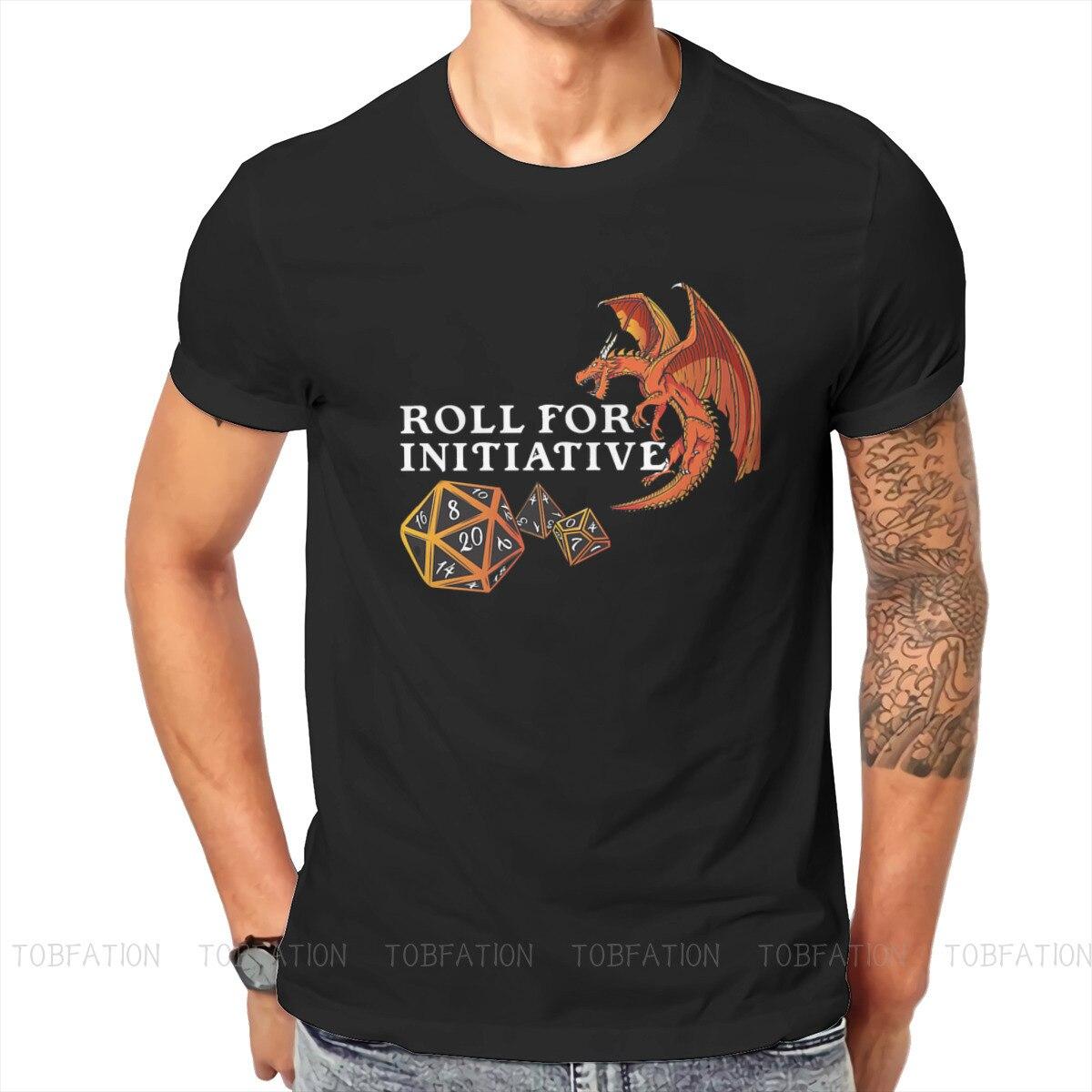 Хипстерские футболки с изображением инициационного дракона, топы из чистого хлопка с графическим принтом «подземелье и истребитель» для р...