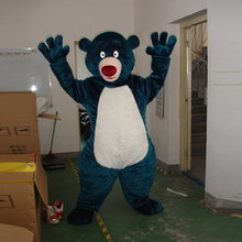 Blue bear cartoon costume adult size mascot ball