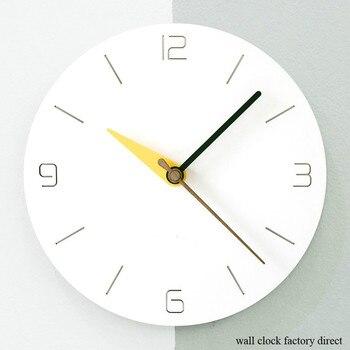Mandelda Home Decoration Watch Wall Clock Circular Wooden Creative Wall Clock by AA Battery Power
