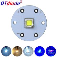 CREE XML2 XML T6 U2 LED Diode SMD5050 10W Round 20mm PCB for Flashlight Car light Headlight High Power Bulb bead DIY Parts cheap OTdiode der Ball 3 0-3 6 V 2500-3000mA