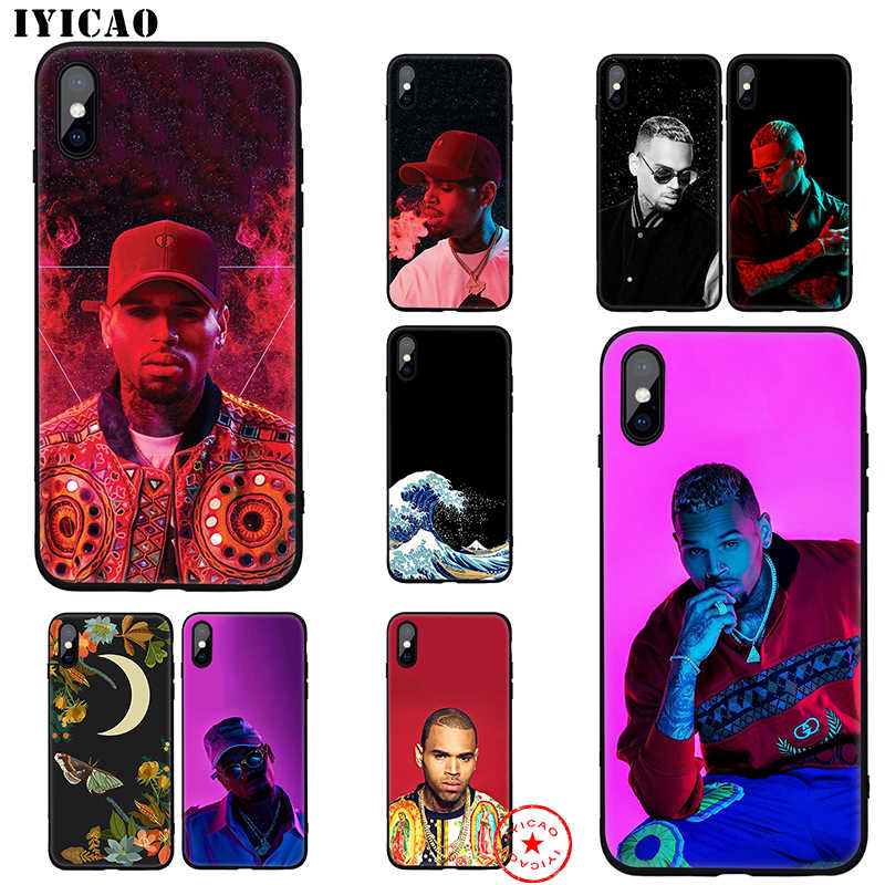 IYICAO Chris Brown Rapper Soft Case for iphone 11 Pro Xr Xs Max 6 6s 7 8 Plus 5 5s Se Silicone TPU 7 Plus