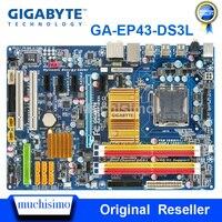 기가 바이트 GA-EP43-DS3L 데스크탑 마더 보드 EP43-S3L p43 소켓 lga ddr2 775 16g sata2 usb2.0 atx 메인 보드 사용 100% 완전 테스트