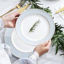 Керамическая тарелка с зарядным устройством для свадьбы Роскошная