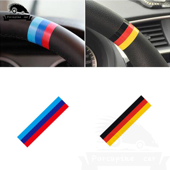 2pcs Car Steering Wheel Racing Grills Strip Sticker For BMW E38 E39 E46 E53 E60 E61 E64 E70 E71 E85 E87 E90 E83 F10 F30 F20 F35 image