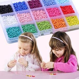 Набор разноцветных бусин 3 мм, Стеклянные Мини-бусины «Пони» для изготовления украшений, ожерелий, браслетов, подарочных украшений, поделок