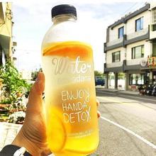 Новинка 600/1000 мл портативная BPA Спортивная бутылка для воды Cam. ping Велоспорт Путешествия фруктовый лимонный сок Изысканная ароматическая большая бутылка
