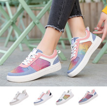 Walking-Shoes Sneakers Canvas Fashion Women Lace-Up Breathable Laser