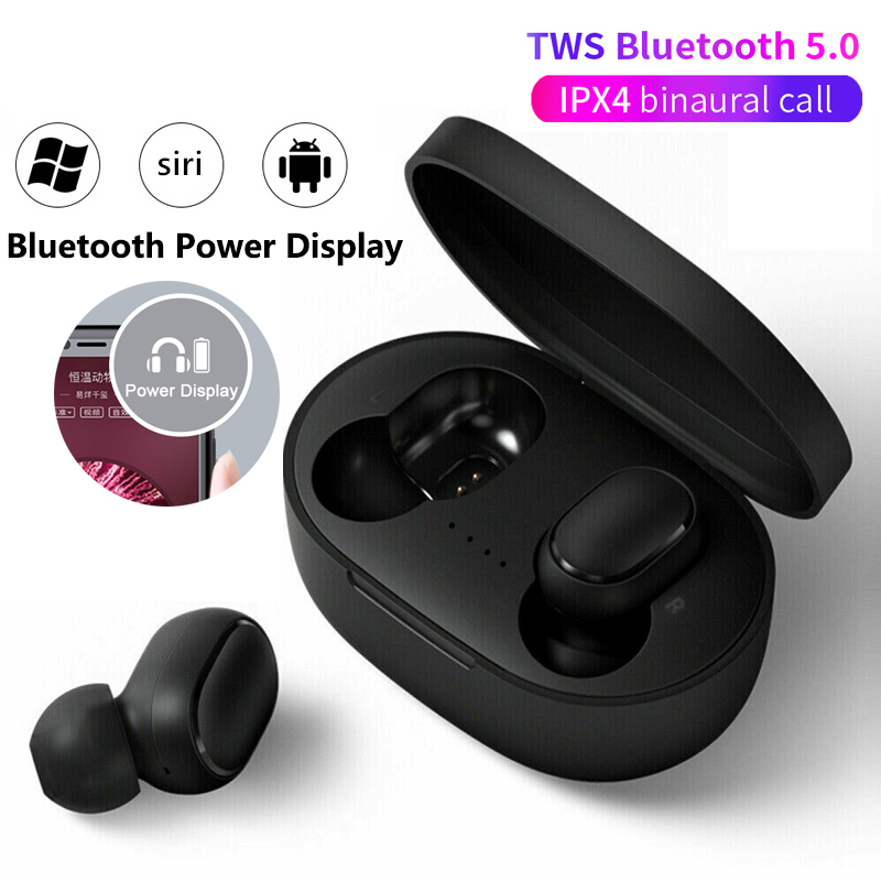 New tws Earphones wireless  Bluetooth earphone for iphone xiaomi Xiomi Redmi Huawei Samsung galaxy buds earbuds Microphone mini