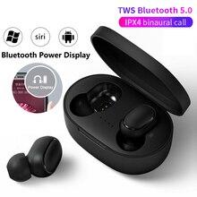 Новинка, tws наушники, беспроводные Bluetooth наушники для iphone, xiaomi, Xiomi, Redmi, Huawei, Samsung galaxy, наушники-вкладыши, микрофон, мини