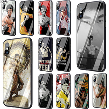 Get more info on the EWAU Bruce Lee Film Kung Fu Star Tempered Glass phone case for iphone 5 5s SE 6 6s 7 8 plus X XR XS 11 pro Max