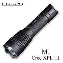 Linterna LED Flashlight Convoy M1 Cree XPL HI Powerful Torch 7135*8 Biscotti Driver 18650 Flashlight Work Light Camping Light