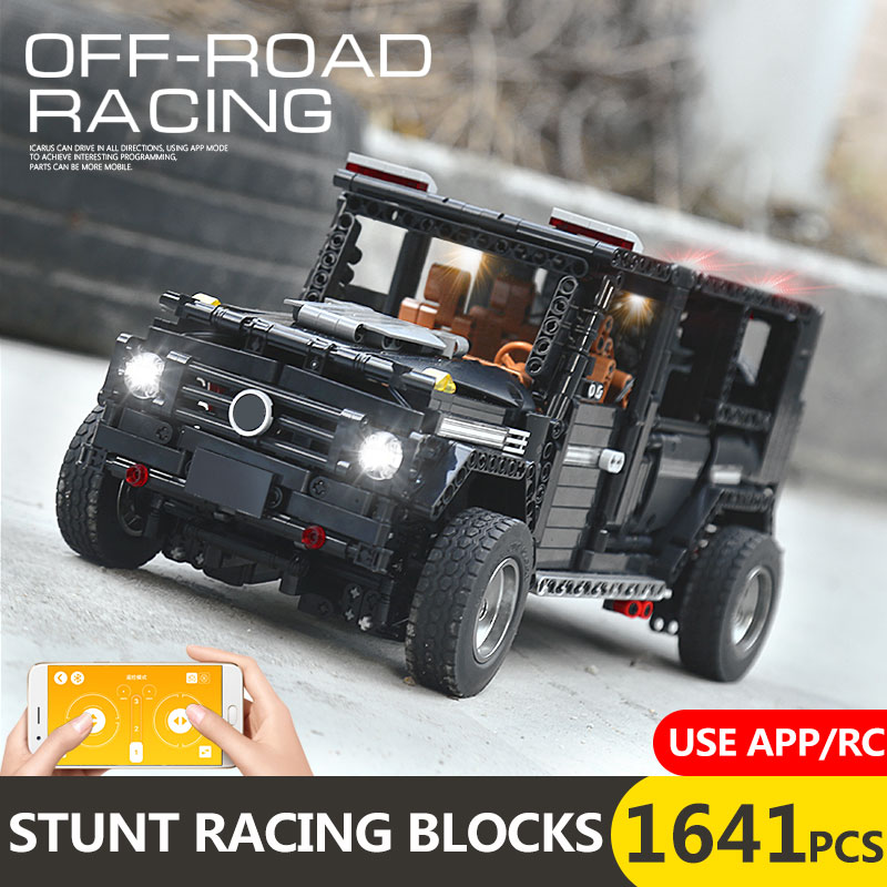 New APP RC G-Glass G500 AWD Wagon SUV Vehicle Fit Technic MOC 2425 Motor Power Function Building Blocks Bricks Toy Kid Birthday 1