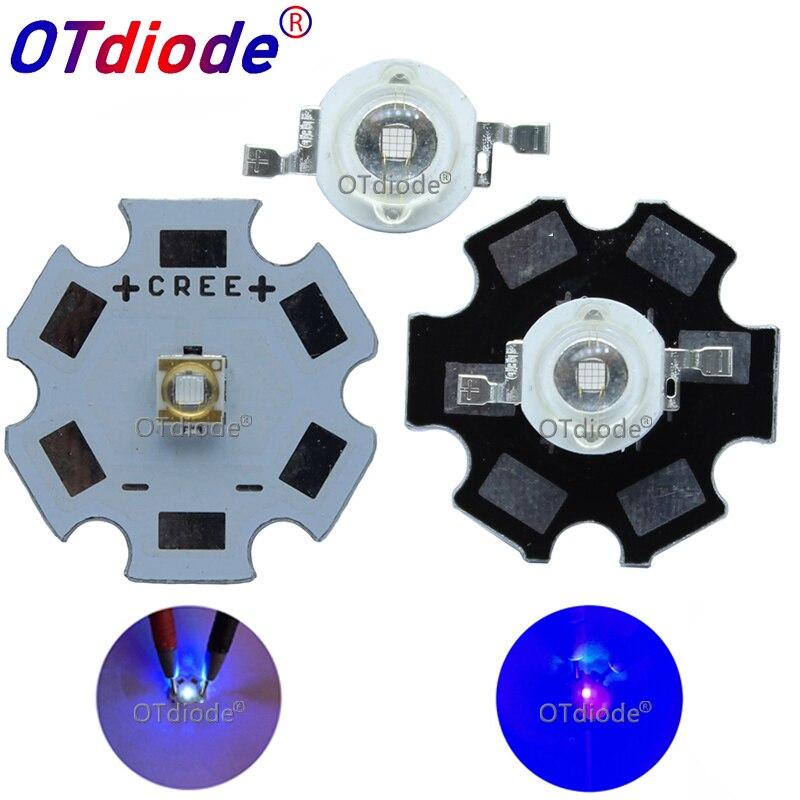 1 Uds 3W alta potencia 3535LED diodos UV luz púrpura Chip 365 385 395nm 400 405nm 430nm para el secador de uñas Identificación de moneda DIY