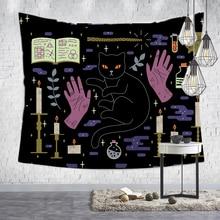Loartee Hekserij Ouija Kat Tapestry Psychische Magic Astrologie Comics Bohemian Hippie Waarzeggerij Thuis Wall Decor Opknoping Deken