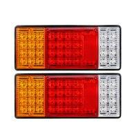 Rear Lamps Warning Lights Universal Tail Lights Car Automobile 12V 2pcs Super Bright