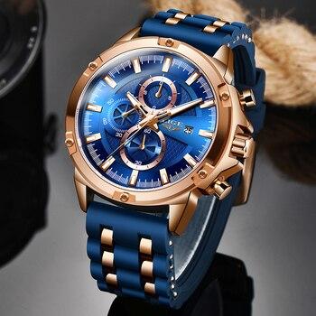 2020 New Mens Watches Top Brand Luxury Watch Men Military Waterproof Silicone strap Quartz Wrist Watch For Men Sport Chronograph
