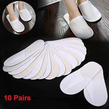 10 Pairs Hotel Travel Spa Disposable Slippers Party Sanitary Home Guest Use Fluffy Closed Toe Men Women Disposable Slippers #5 стоимость