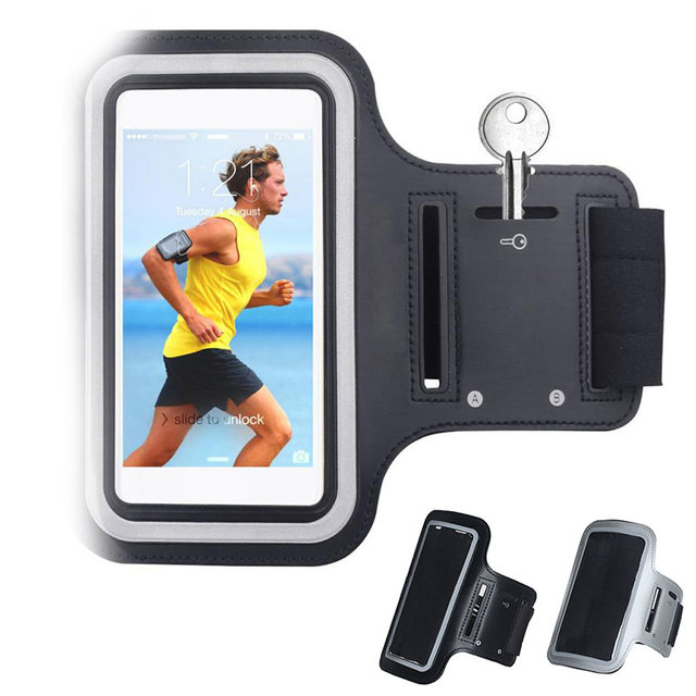 BLACK Waterproof Gym Sports Running Armband for Iphone 11 Pro Max Xs Max XR X 8 4s 5s 5c 6 6s 7 7s Plus Arm Band Phone Bag Case 1