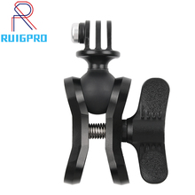 Aluminum CNC Camera Accessory Diving Ball Fixture Lights Arm Ball Butterfly Clip Triple Clamp Mount Adapter for Gopro 5 6 7 8 9